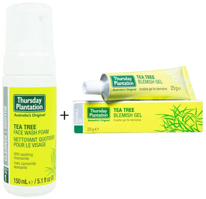 Thursday Plantation Tea Tree Face Wash 150ml + Free Tea Tree Blemish Gel 25g