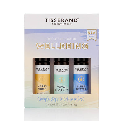 Tisserand The Little Box of Wellbeing (3 x 10ml Roller Balls in the Box) - mOrganics Beauty