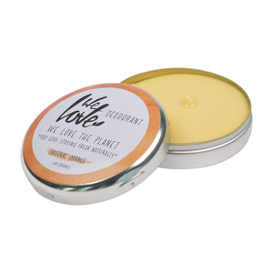 We Love the Planet Original Orange Cream Deodorant Tin 48g - mOrganics Beauty