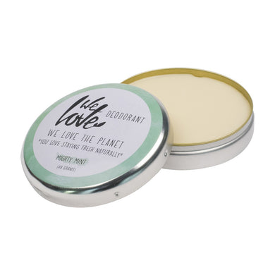 We Love the Planet Mighty Mint Cream Deodorant Tin 48g - mOrganics Beauty