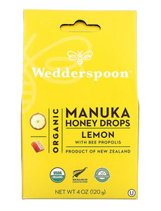 Wedderspoon Honey Lemon Lozenges 120g