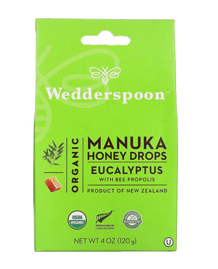 Wedderspoon Honey Eucalyptus Honey Drops 120g