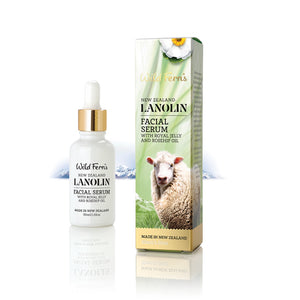 Wild Ferns Lanolin Facial Serum with Royal Jelly and Rosehip Oil - 30ml