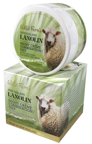 Wild Ferns Lanolin Creme with Collagen, Placenta & Propolis 100g