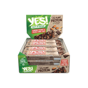 YES! Protein - Almond, Peanut & Double Dark Choc Bar (Box of 12)