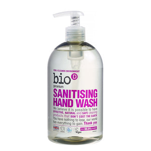 Bio-D Geranium Sanitising Hand Wash 500ml