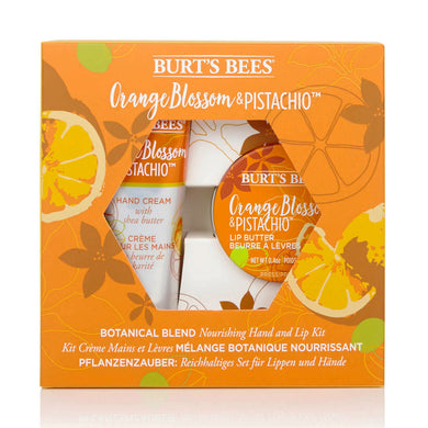 Burt's Bees Nourishing Hand & Lip Kit- Orange Blossom & Pistachio