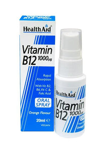 HEALTHAID VITAMIN B12 1000µg 20ml ORAL SPRAY - Orange Flavour