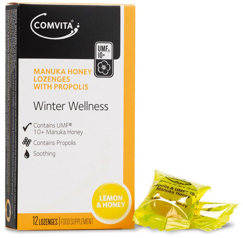 Comvita Manuka Lemon & Honey Lozenges with Propolis - 12 Drops