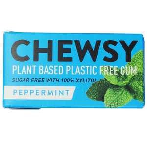 Chewsy Sugar Free Peppermint Chewing Gum 15g (Pack of 12)