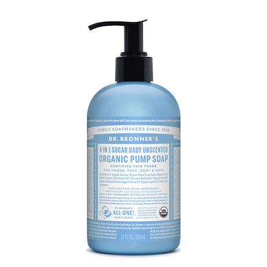 Dr. Bronner's Organic Pump Soap - Baby Unscented 355ml