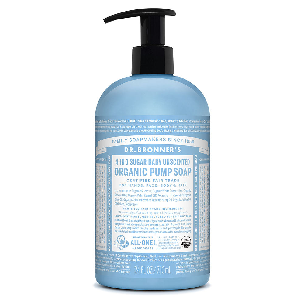 Dr. Bronner's Organic Pump Soap - Baby Unscented 710ml