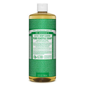 Dr. Bronner's Almond Castile Liquid Soap 946ml