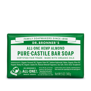 Dr. Bronner's Organic Almond Soap Bar 140g