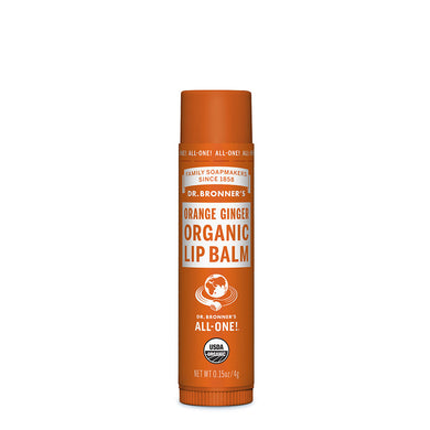 Dr Bronner's Organic Orange & Ginger Lip Balm