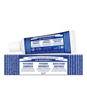 Dr Bronner's Peppermint Toothpaste 28g - Travel Size