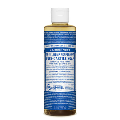 Dr. Bronner's Peppermint Castile Liquid Soap 237ml - morganicsbeauty