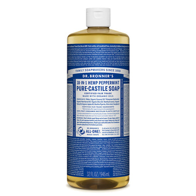 Dr. Bronner's Peppermint Castile Liquid Soap 946ml