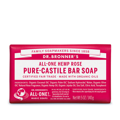 Dr. Bronner's Organic Rose Soap Bar 140g