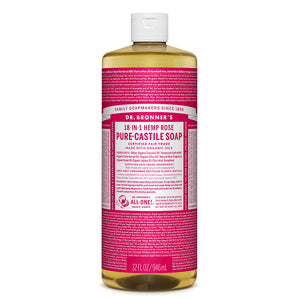 Dr. Bronner's Rose Castile Liquid Soap 946ml