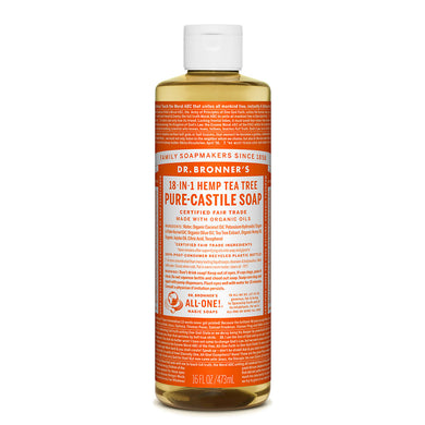 Dr. Bronner's Tea Tree Castile Liquid Soap 473ml