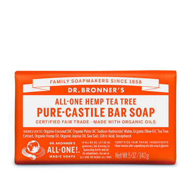 Dr. Bronner's Organic Tea Tree Soap Bar 140g