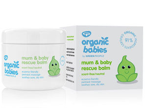 Green People Organic Babies Mum & Baby Rescue Balm Scent Free 100ml