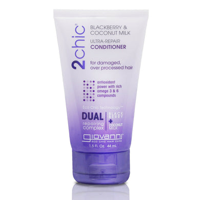 Giovanni 2Chic Blackberry & Coconut Milk Ultra-Repair Conditioner 44ml - Travel Size - Travel size - mOrganicsbeauty
