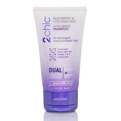 Giovanni 2Chic Blackberry & Coconut Milk Ultra-Repair Shampoo 44ml - Travel Size