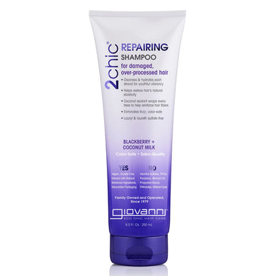 Giovanni 2Chic Repairing Shampoo Blackberry & Coconut Milk 250ml