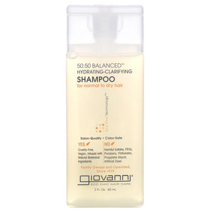 Giovanni 50:50 Balanced Hydrating - Clarifying Shampoo 60ml (Travel Size)