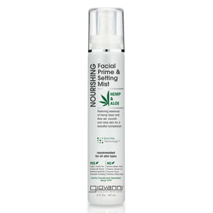 Giovanni Hemp & Aloe Vera Nourishing Facial Prime & Setting Mist 147ml  - mOrganicsbeauty