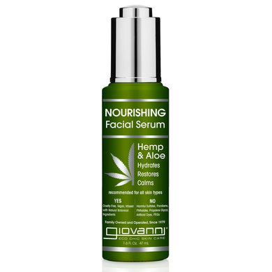 Giovanni Hemp & Aloe Nourishing Facial Serum 47ml -morganicsbeauty