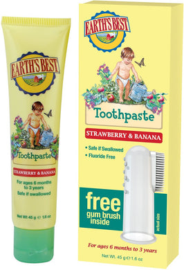 Earth's Best Organic Kids Strawberry & Banana Toothpaste 45g