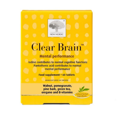 New Nordic Clear Brain Food Supplement 60 Tablets
