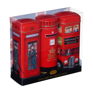 New English Teas Heritage Range - Phone Box, Bus and Letter Box Triple Pack Gift Set