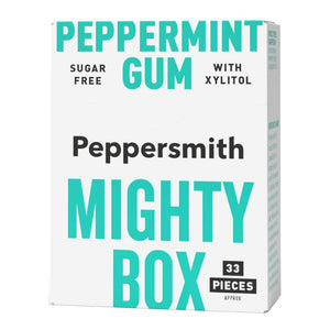 Peppersmith English Peppermint Chewing Gum Mighty Box 50g