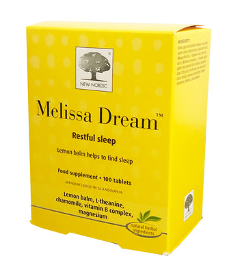 New Nordic Melissa Dream Tablets 100 Tablets