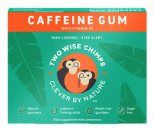 Two Wise Chimps Cafeeine Gum 9 Pellets 21g (Pack of 12)