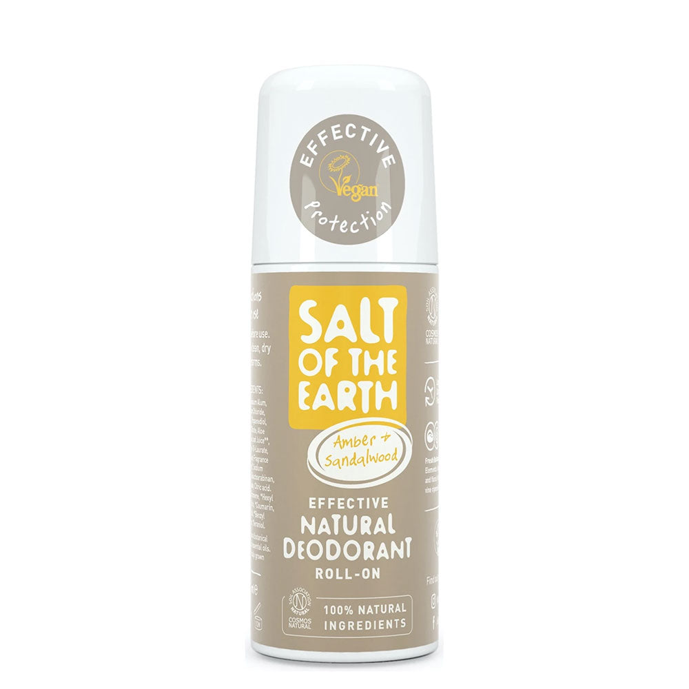 Salt of the Earth Amber and Sandalwood Natural Roll-on Deodorant 75ml