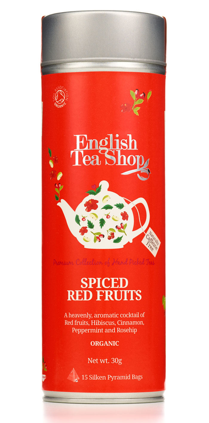English Tea Shop Spiced Red Fruits Round Tin 15 Teabags