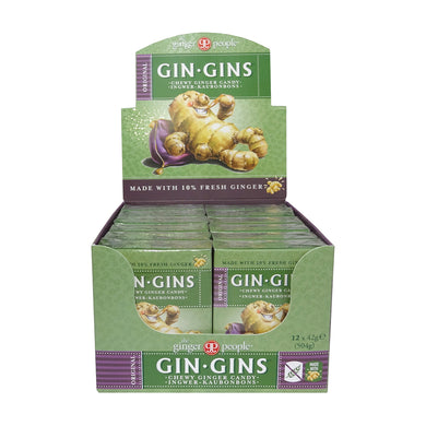 The Ginger People Original Ginger Chews 42g - Box of 12