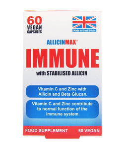 Allicin Max Immune with Stabilised Alicin 60 Vegan Capsules