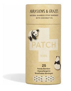 Patch Kids 25 Panda Bamboo Breathable Bandages