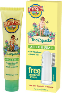 Earth's Best Organic Kids Apple & Pear Toothpaste 45g