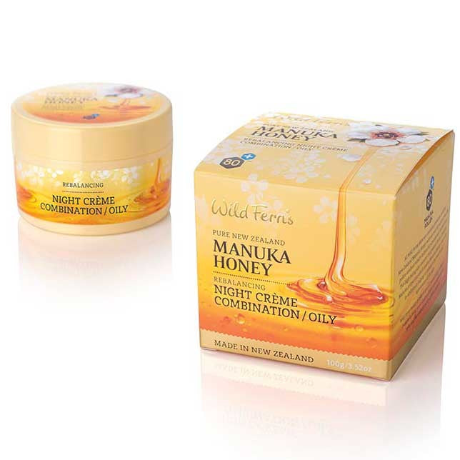 Wild Ferns Manuka Honey Rebalancing Night Creme - Oily Skin 100g