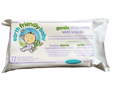Earth Friendly Baby Gentle Aloe Vera Wipes 72 Wipes