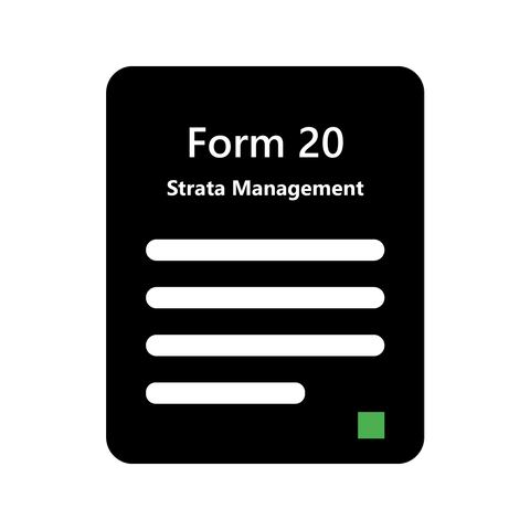 Strata Management Form 20