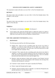 Non-Exclusive Marketing Agency Agreement Template