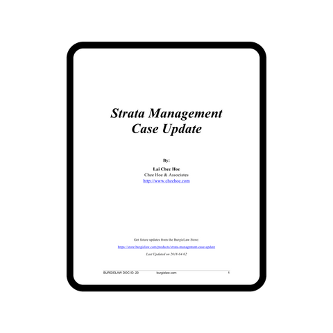 Strata Management Case Update